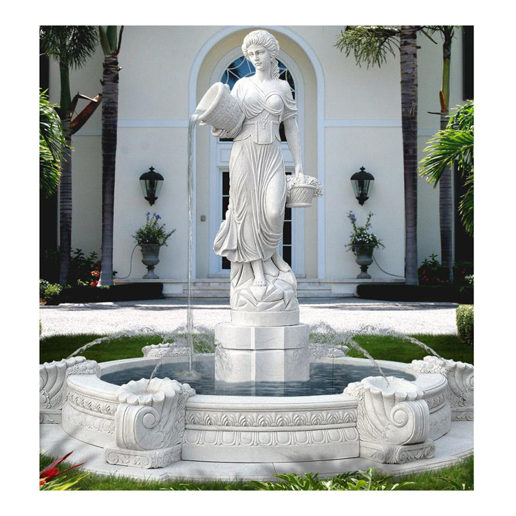 Lady Water Fountain Statue