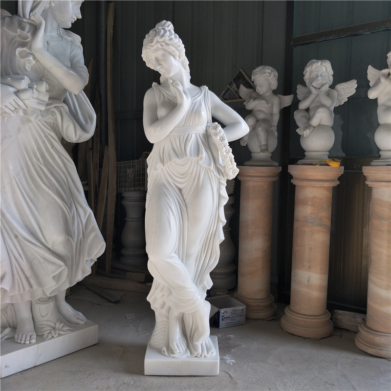 White Marble Woman Sculpture Statue